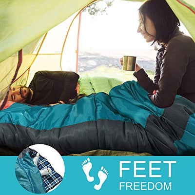 Forceatt Sleeping Bag for Camping in 3-4 Season (14℉ to 59℉) 丨 Lightweight,Waterproof and Warm for Adults & Kids丨 Backpacking,Camping, Hiking and Traveling