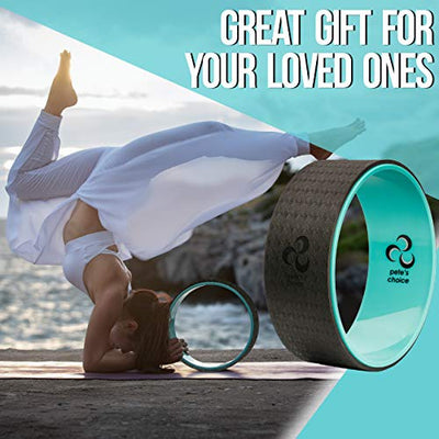 Pete's choice Dharma Yoga Wheel with Bonus eBook & Free Yoga Strap