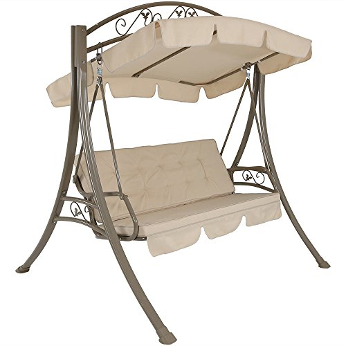 Deluxe Patio Swing with Heavy Duty Steel Frame