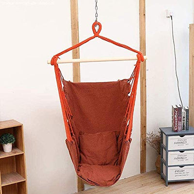 Outdoor Swing/Hanging Chair Indoor Hanging Basket Canvas Household Lazy Cradle Adult Children Sturdy and Stable Leisure Seat Rope Swing Easy Installation Suitable aor Any Indoor or Outdoor Space/Qua