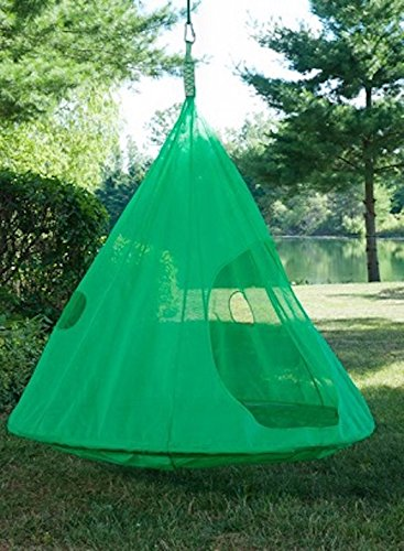 Flower House FHDTLG Teardrop Hanging Hammock Chair, Light Green