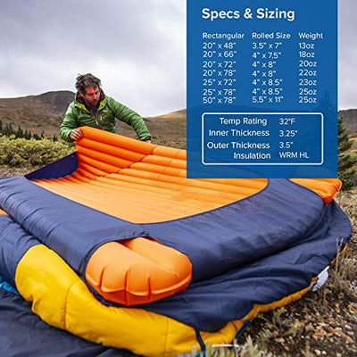 Big Agnes Insulated Air Core Ultra Sleeping Pad: Long