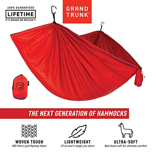 Grand Trunk Trunktech Double Hammock: Red/Navy