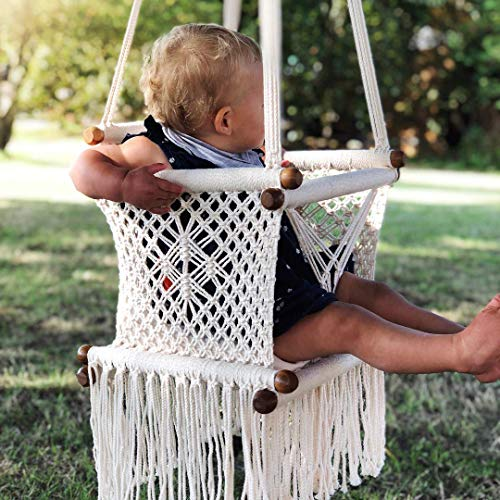 Baby Swing Chair in Cream + 1 Khaki Cushion