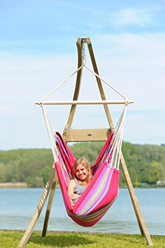 Atlas Wooden Hammock Chair Stand: Byer of Maine