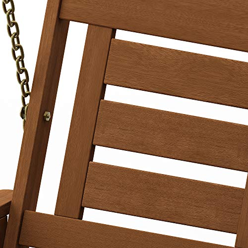 Hardwood Patio Furniture 3-Seater Swing with Stand, Natural