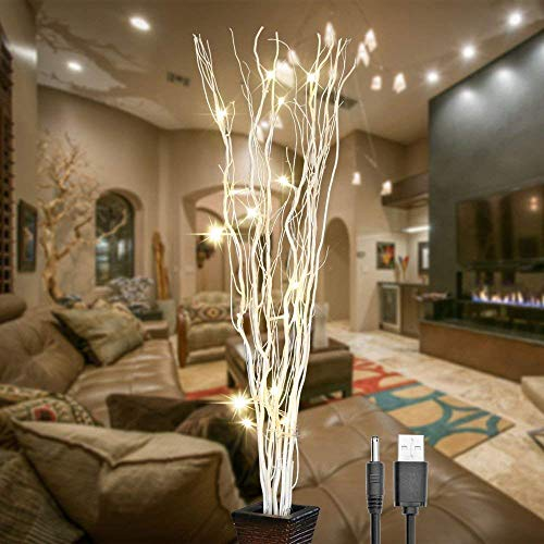 Natural Willow Twig Lighted Branch for Home Decoration
