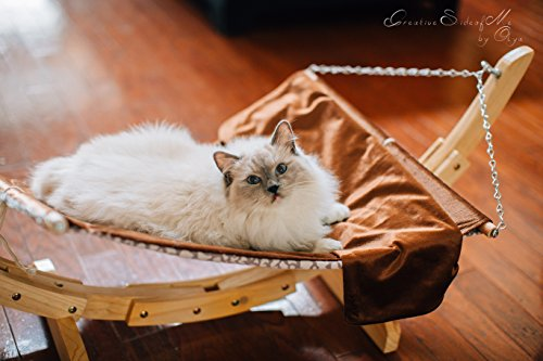 Pet Magasin Luxury Cat Hanging Bed – Heavy Duty Hammock Style Pet Perch with Simple Installation for Cats, Small Dogs & Other Animals