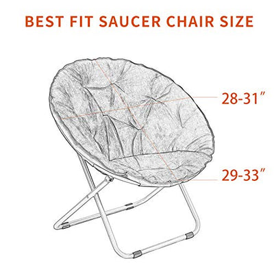 V-TIMMIX Stretch Saucer Chair Slipcover,Moon Chair Cover Jacquard Fabric Chair Saucer Slipcover(Gray)