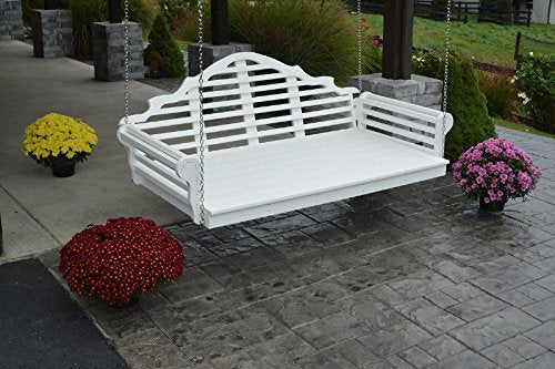 "75"" Amish-Made Poly Marlboro Swing Bed, Aruba Blue"