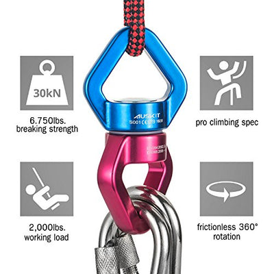 Spider Tree Swings Swivel Hanging Accessory with Carabiners