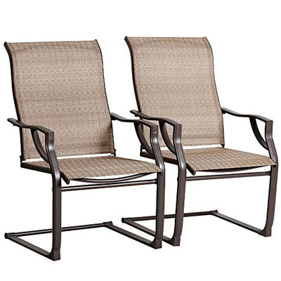 Patio Chairs Set of 2 for Outdoor Lawn Garden Backyard