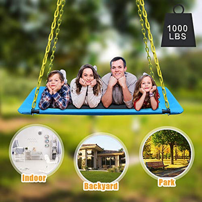 KKTour 1000lbs Giant 6o Inch Platform Tree Swing for Kids and Adults