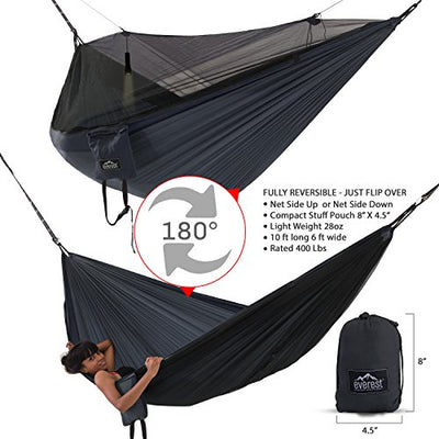Everest Double Camping Hammock with Mosquito Net