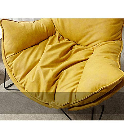 KKLL Sofa Chair Single Down Lounge Chair Living Room Bedroom Lazy Sofa Lounge Chair Versized Comfy Moon Chairs (Color : Yellow (Two))