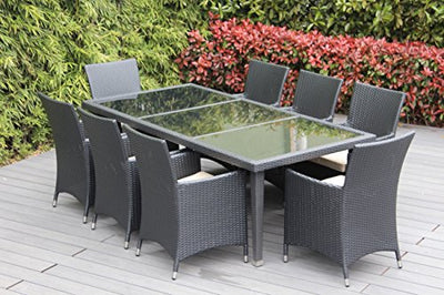 Outdoor Wicker Patio Furniture Set (20 PC Set) with Free Patio Cover