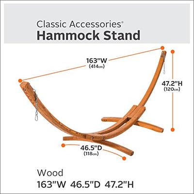 Classic Accessories Montlake 13-foot Heavy-Duty Hardwood Hammock Stand