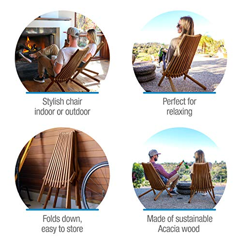 CleverMade Tamarack Folding Wooden Outdoor Chair