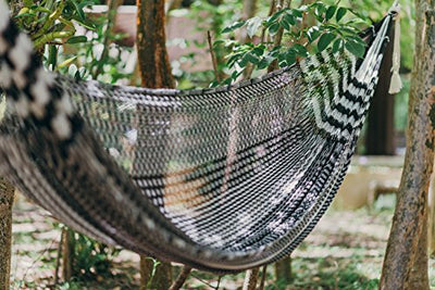 COBA Hammock - Handmade by Mayan Artisans (Fair Trade) - Multicolor - 100% Nylon - Double Woven Thread