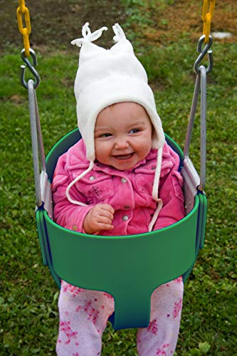 Heavy-Duty High Back Full Bucket Toddler Swing Seat with Coated Swing Chains Fully Assembled