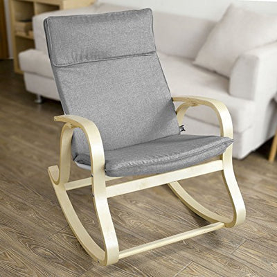 Comfortable Relax Rocking Chair with Cotton Fabric Cushion