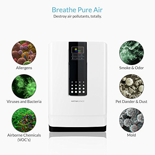 Hathaspace Smart True HEPA Air Purifier: White