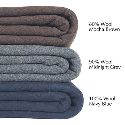 EKTOS 90% Wool Blanke Perfect for Outdoor Camping, Survival