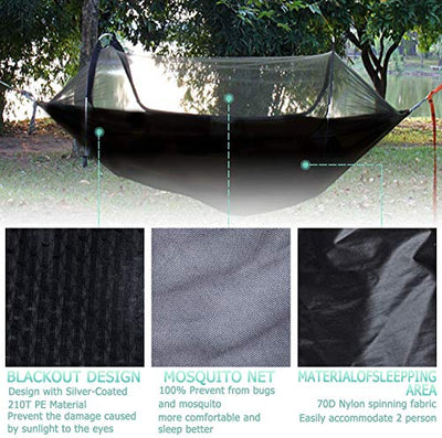 OHMU Portable Hammock Tent with Mosquito Net and Rainfly Cover