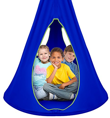 Sorbus Kids Nest Swing Chair Hangout: Nest Blue