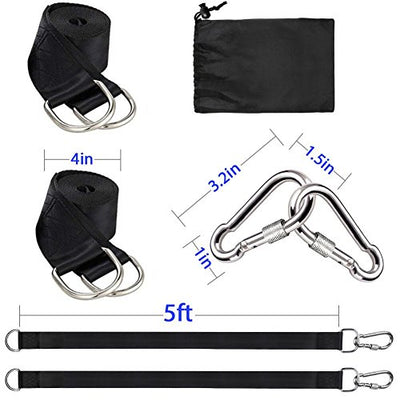Tree Swing Hanging Straps Kit Holds 2000 lbs