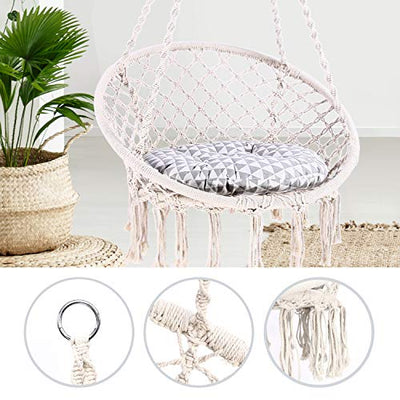 Ohuhu Hammock Chair Hanging Chair Swing with Hanging Kit