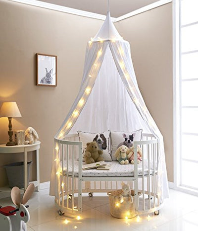 Bed Canopy Cotton Mosquito Net for Kids: White
