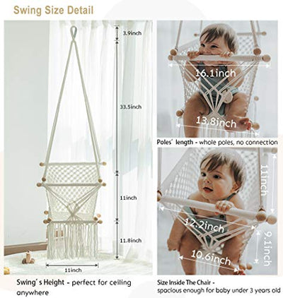 Hanging Swing Seat Hammock Chair for Infant to Toddler