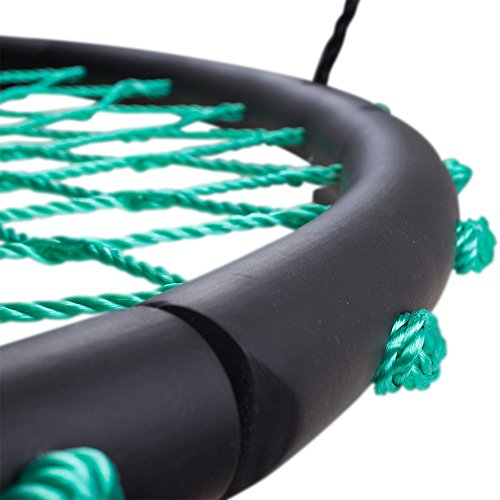 "Tarzan Tire 40"" Spider Web Swing, Green – Tree Swing, Redesigned Tire Swing, Extra Safe and Durable, Swing with Friends, Easy Install for Swing Set or Tree"
