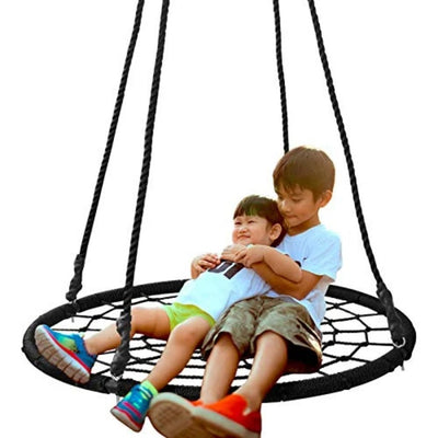Spider Web Tree Swing Net Swing with Detachable Nylon Rope Swivel