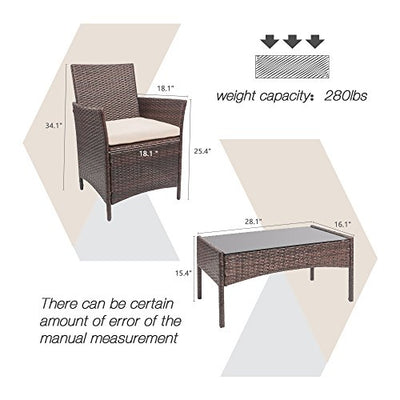 Homall 4 Pieces Outdoor Patio Furniture Set