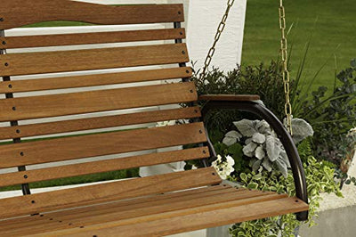 Country Garden Porch Swing Seat, Bronze