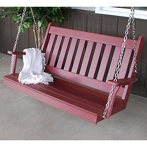 Traditional English Recycled Plastic Porch Swing