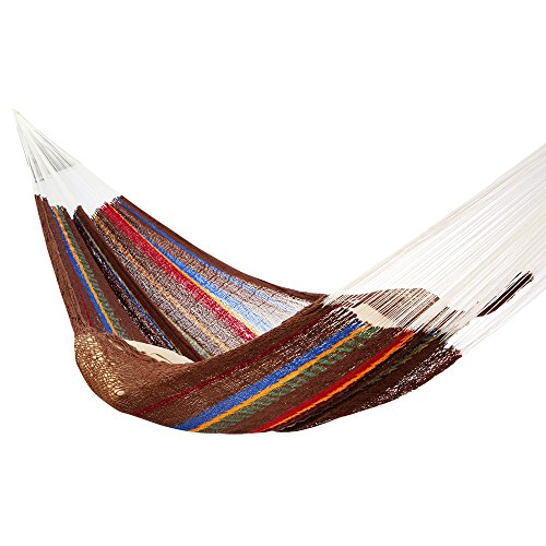 Amber Home Goods AASMH-1905 Mayan Double Sleeping Hammock, Brown