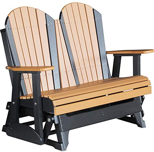 LuxCraft Recycled Plastic 4' Adirondack Glider Chair