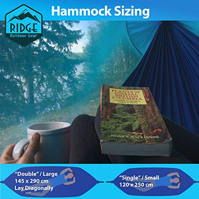 Ridge Outdoor Gear Camping Lay Flat Hammock with Mosquito Net