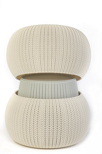 Urban Knit Pouf Set: Cloudy Grey/Oasis White