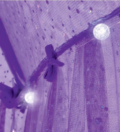 Sparkling Lights Lighted Canopy Bower, in Purple
