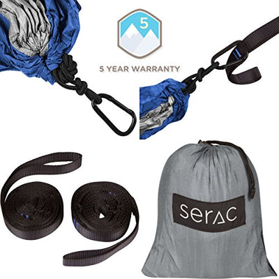 Single Camping Hammock with Suspension System by Serac [10 Colors]
