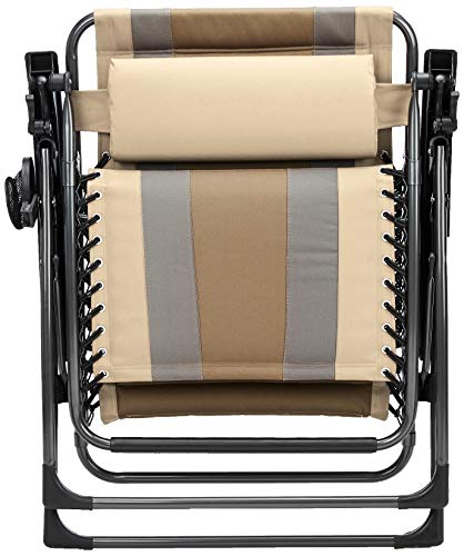 AmazonBasics Outdoor Padded Zero Gravity Lounge Beach Chair