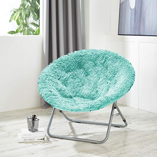 Urban Shop Oversized Mongolian Saucer Chair, Aqua
