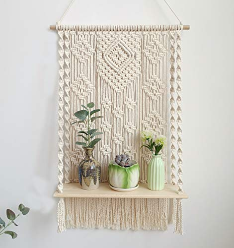 Handmade Macrame Wall Hanging Shelf