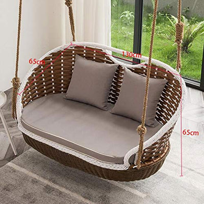 Double Basket Rattan Rocking Chair