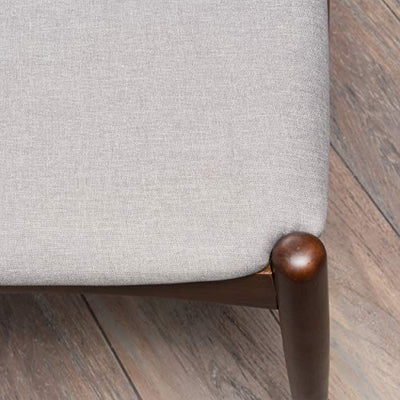 Francie Fabric with Walnut Finish Dining Chairs