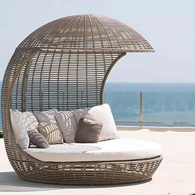 Rattan Creative Bird Cage Eggshell Round Sunshade Leisure Lounge Chair